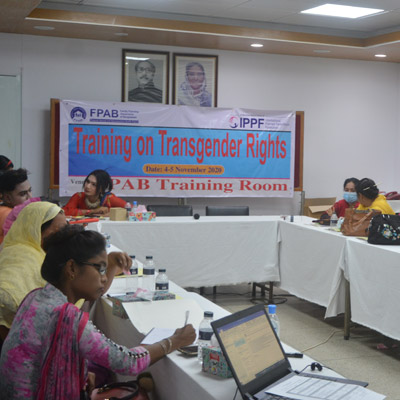 To create an enabling environment for improved access to SRH information services and support for transgender youth in Bangladesh''